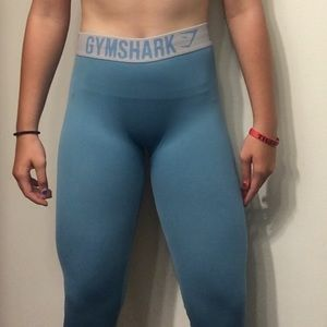 Gymshark blue fit leggings, size small.
